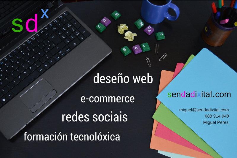 Sendadixital. Deseño web