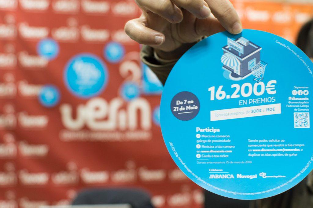 Días azuis do comercio galego. 16.200€ en premios